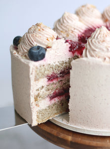 Hands-on Blueberry Earl Grey Creme Bavarios Cake