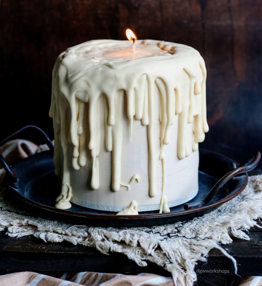 Hands-on Vanilla Pistachio and Passion Fruit Low-Sugar Buttercream Candle Cake Workshop