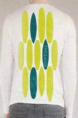 Ditch Plains White Long Sleeve Surfboard T-Shirt