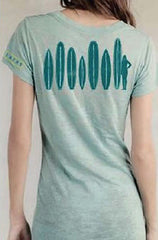 Ditch Plains Turquoise V-Neck Tee-Shirt