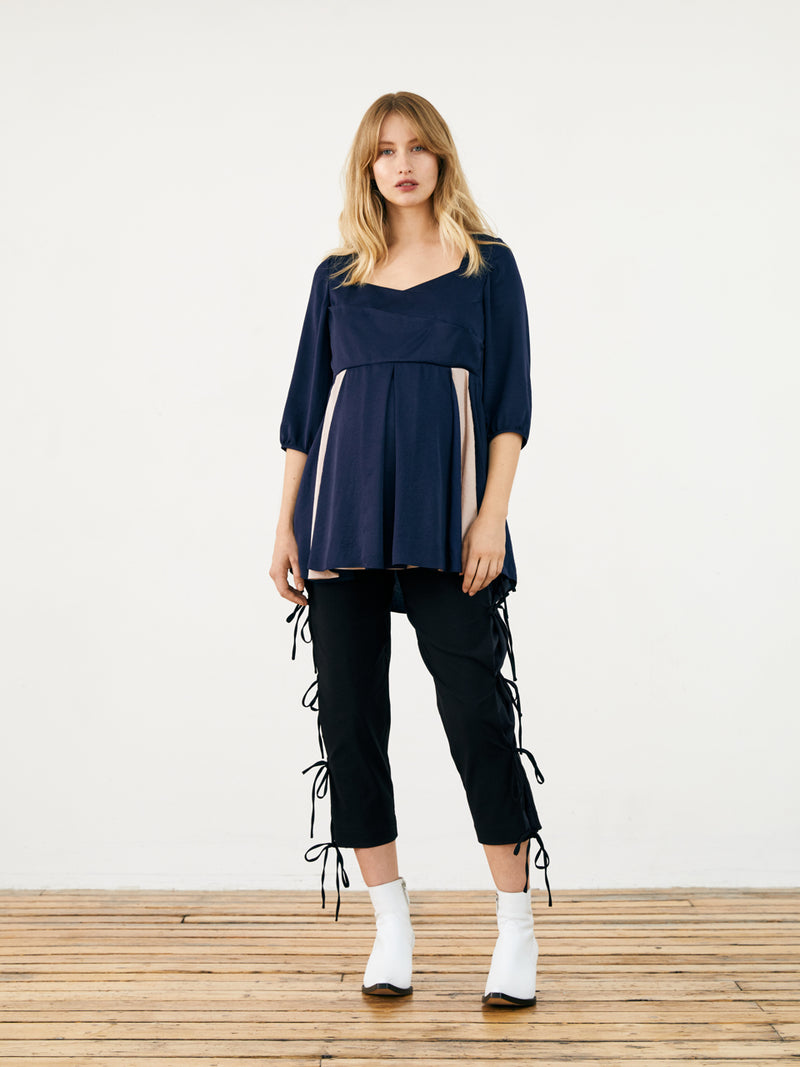 Milk Maid Top - Navy