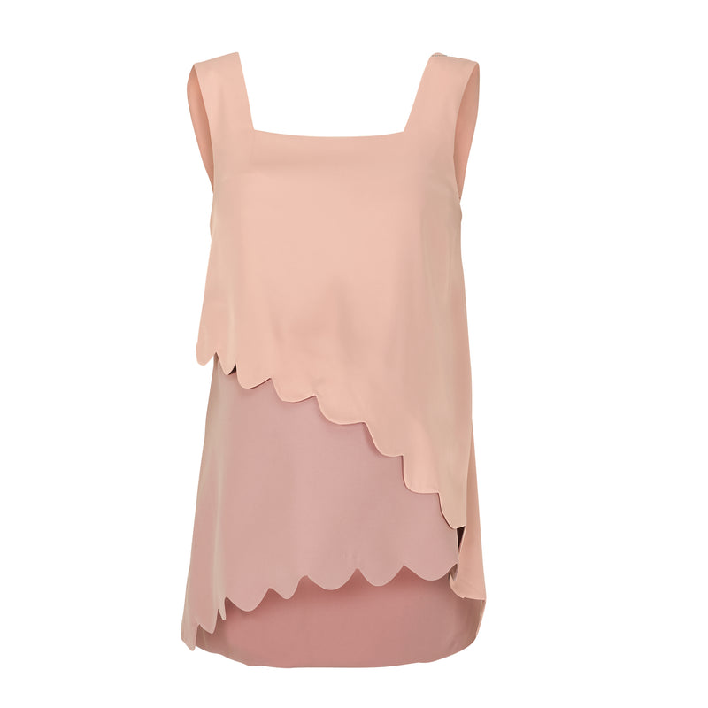 Cloud Pinny Top - Pink