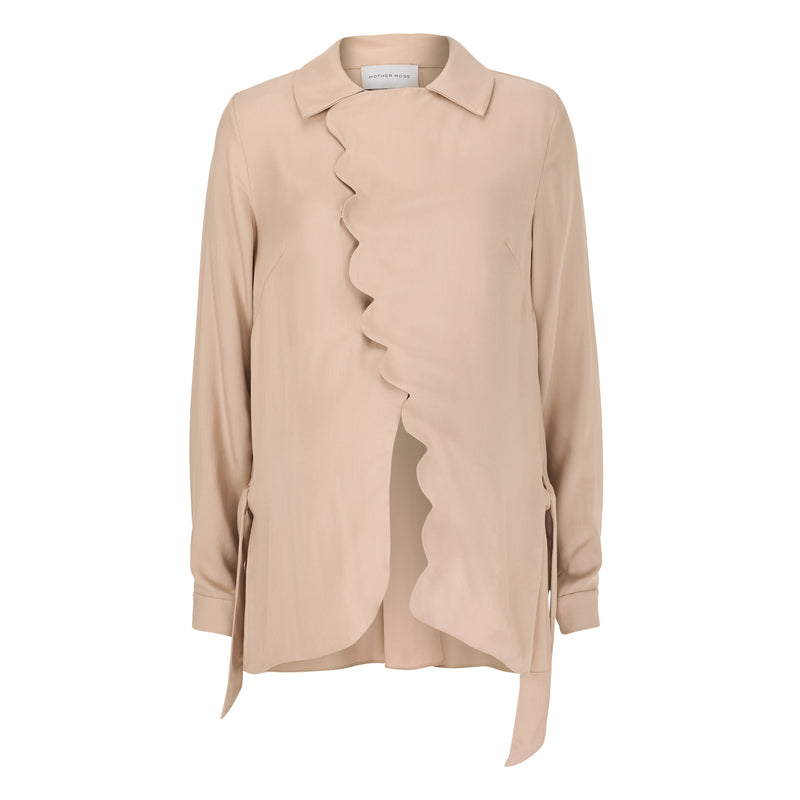 Scallop Shirt - Taupe
