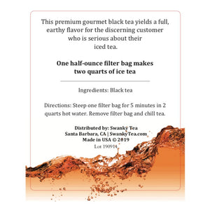 Swanky-black-iced-tea-label
