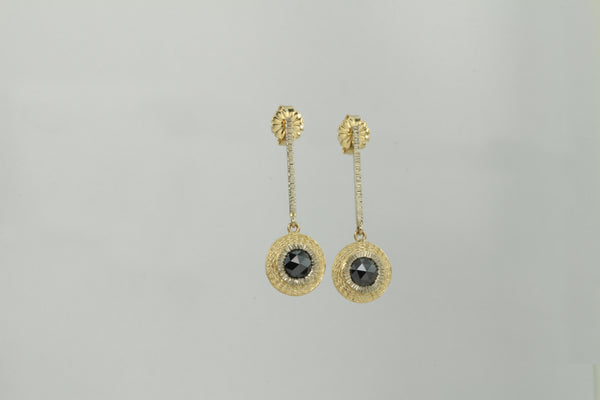 Black Rose Cut Diamond ER long