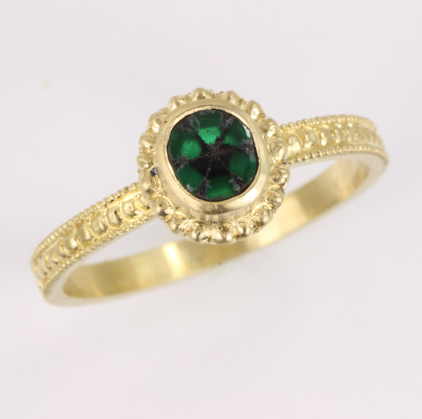 Emerald Trapiche Ring