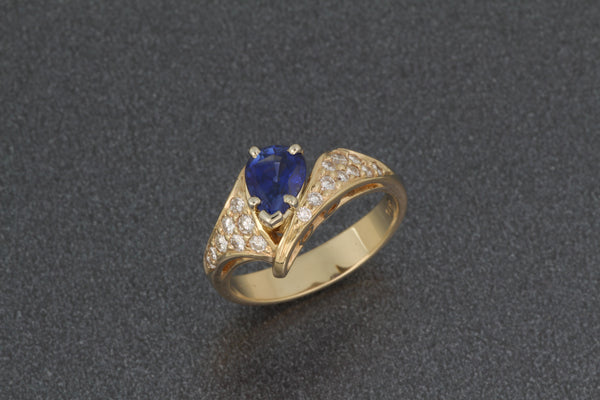 PS Sapphire rings with diamonds