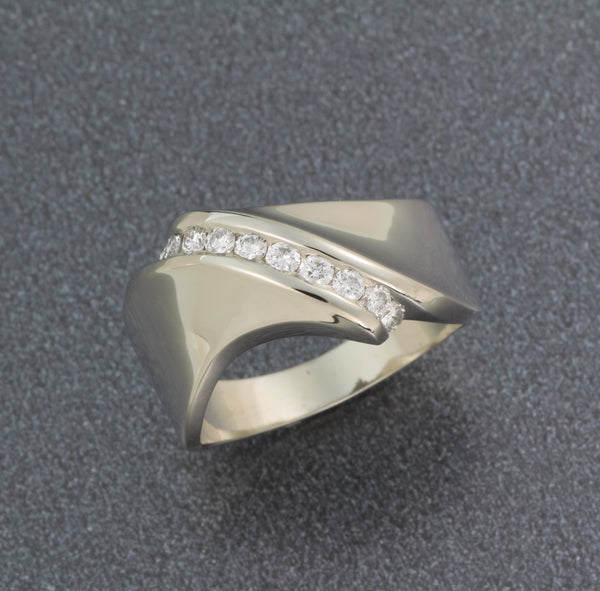 Mens Mobius Wedding Ring with Diamonds
