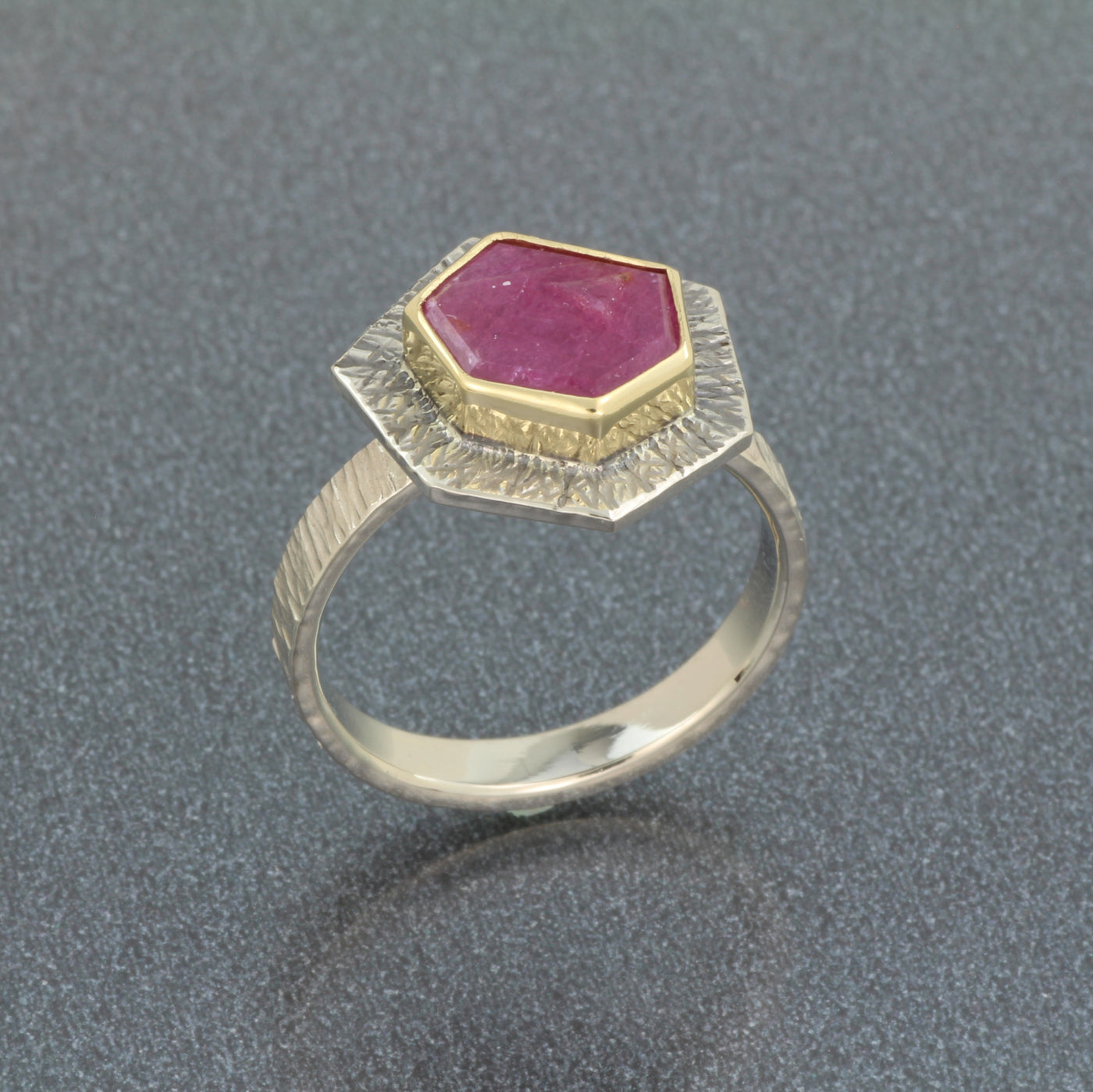 Natural Ruby Crystal Ring