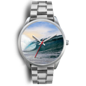 Wave Custom Designed Silver Watch