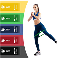 Resistance Bands Exercise Loops - 12-inch Full Body Workout Bands for Physical Therapy, Rehab, Stretching, Home Fitness, Yoga & More - Bonus EBooks, Instruction Manual, Online Videos & Carry Bag
