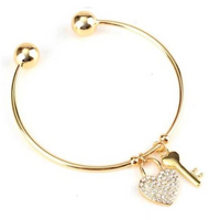 Key To The Heart Bangle (Shipped From USA)