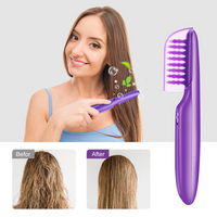 Electric comb for Women works on Wet  or Dry Tame with this Brush