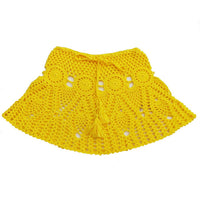 Candy Color Handmade Cotton Knitted Crochet Mini Skirts Women Summer Hollow Out High Waist Beach Skirt White Bottoms 2020