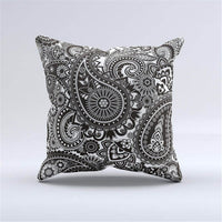 Woven Linen Cover Sofa Car Home Pillow