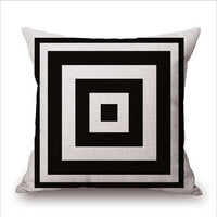 Pillow Case Black and White