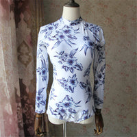 Floral Long Sleeves Surf Swimwear