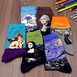 3D Retro Painting Art Socks