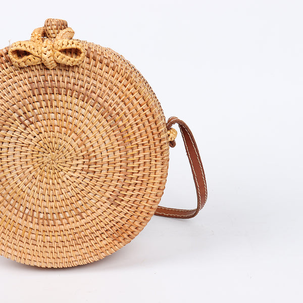 Handmade Round Straw Bag