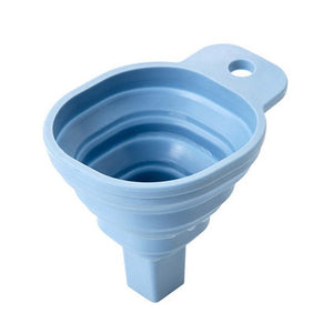 Collapsible Funnel Silicone Foldable Funnel for Water Bottle