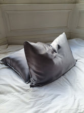 Load image into Gallery viewer, Stone Grey Mulberry Silk Pillowcase - Artem Luxe
