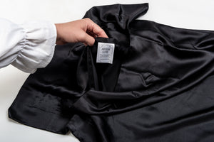 Oxford Mulberry Silk Pillowcase: Black - Artem Luxe