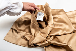 Oxford Mulberry Silk Pillowcase: Gold - Artem Luxe