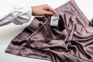 oxford silk pillowcase: heather
