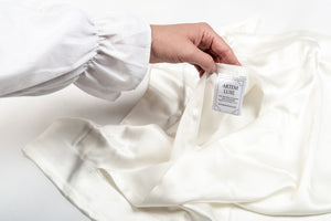 silk pillowcase: oyster