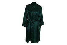 Load image into Gallery viewer, Mulberry Silk Robe: Emerald - Artem Luxe