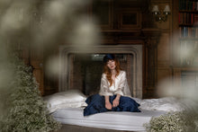 Load image into Gallery viewer, Mulberry Silk Sleep Set Midnight Blue - Oxford Pillowcase & Mask - Artem Luxe