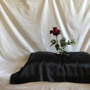 oxford silk pillowcase: black