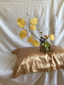 oxford silk pillowcase: gold