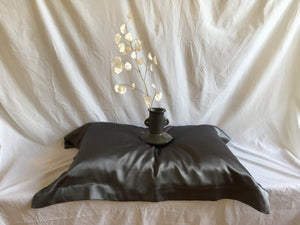 oxford silk pillowcase: grey