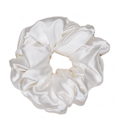 Mulberry Silk Large Scrunchie Pearl - Artem Luxe