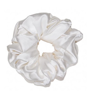 Mulberry Silk Large Scrunchie Pearl
