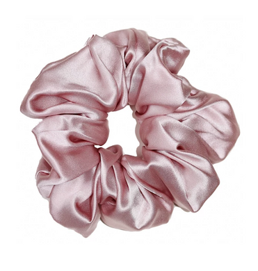 Mulberry Silk Large Scrunchie Pink - Artem Luxe