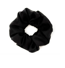 Load image into Gallery viewer, Mulberry Silk Large Scrunchie Black