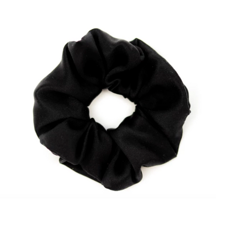Mulberry Silk Large Scrunchie Black