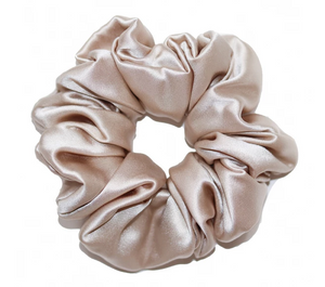Mulberry Silk Large Scrunchie Champagne - Artem Luxe