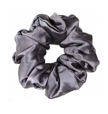 Mulberry Silk Large Scrunchie Grey - Artem Luxe