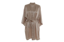 Load image into Gallery viewer, Mulberry Silk Robe: Caramel - Artem Luxe