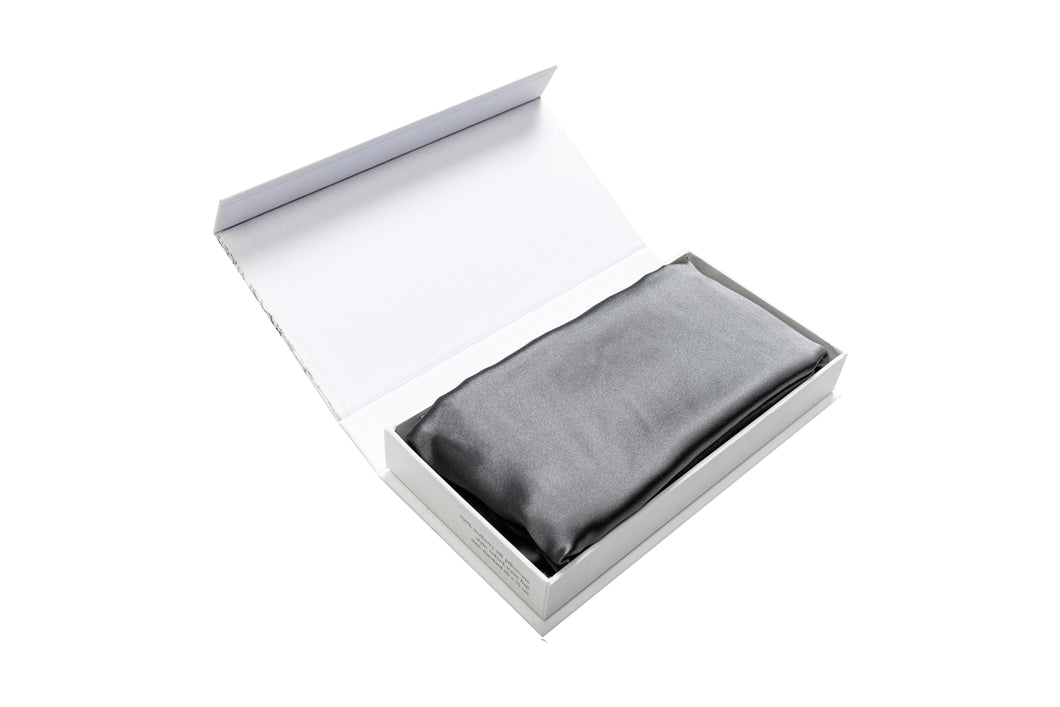 Oxford Mulberry Silk Pillowcase Grey - preorder - Artem Luxe