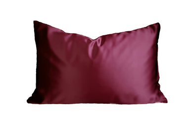 Wine Red Mulberry Silk Pillowcase Artem Luxe 19 momm