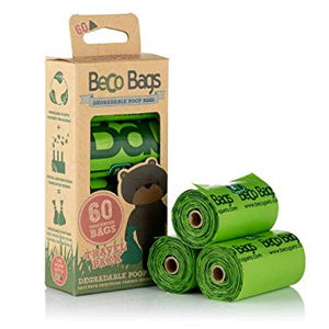 Beco Mint Scented Biodegradable Dog Poop Bags x60
