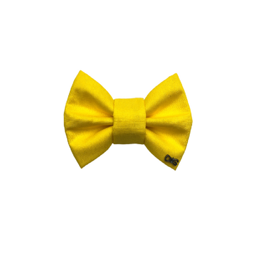 Funky Dog Large Yellow Bow Tie