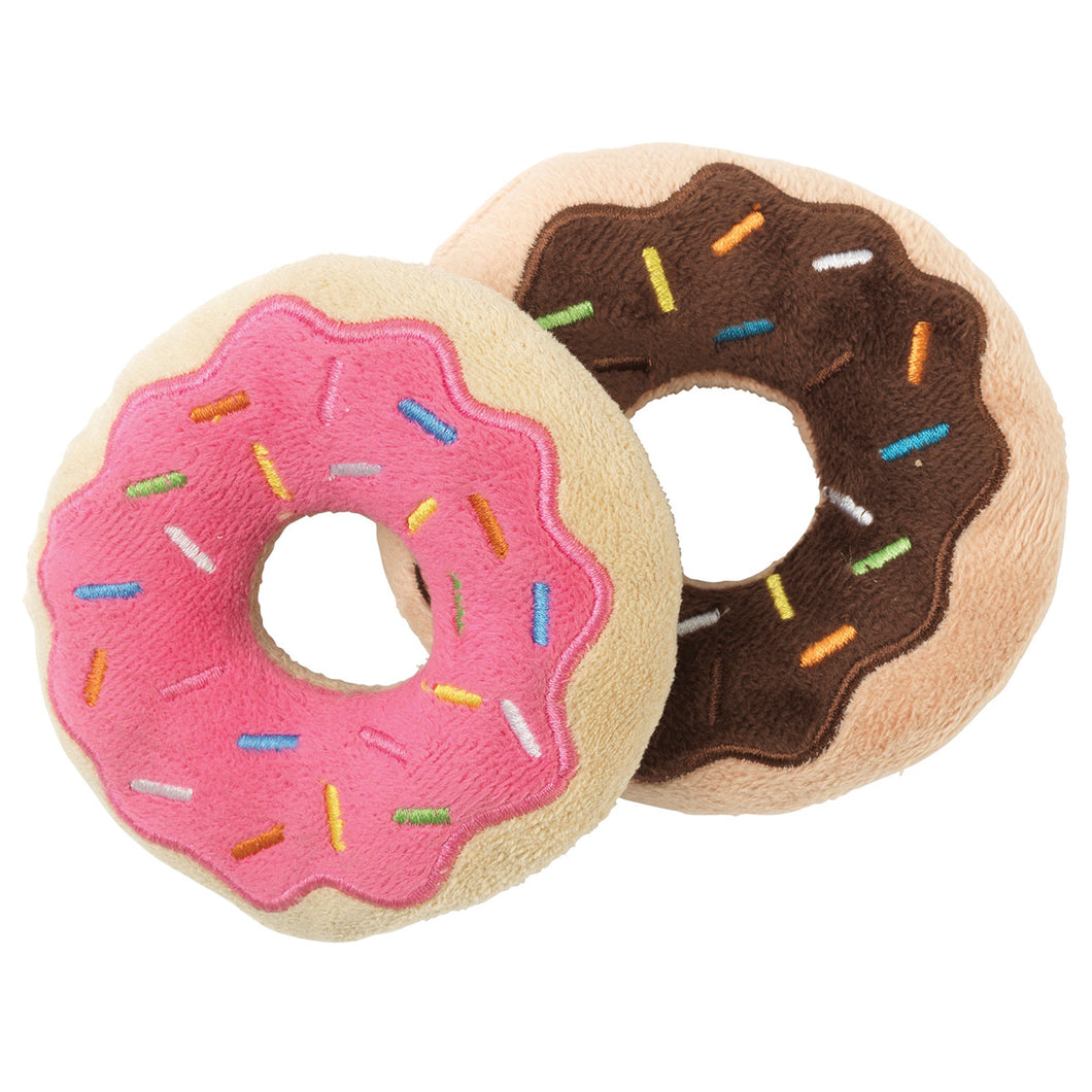 FuzzYard Donuts Plushy Dog Toy