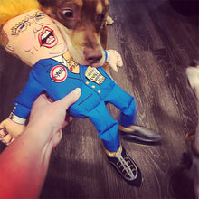 Load image into Gallery viewer, Fuzzu Donald Trump Plushy Dog Toy