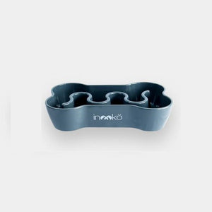 Inooko Grey Bone Slow Feeder Dog Bowl