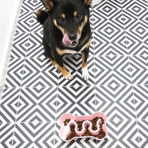 Inooko Pink Bone Slow Feeder Dog Bowl